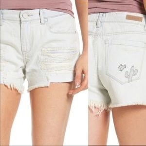BLANK NYC Cactus Sunbaked Distressed Tomboy Short